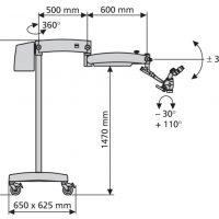 Diagramm von Dentalmikroskop OPMI pico, Bodenstativ