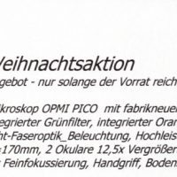 Flyer Weihnachtsaktion 2016 OPMI Pico