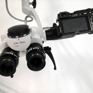 Photo of video documentation for Zeiss OPMI pico